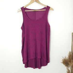 Candy Couture | Purple Marl Knit Tank Top Large